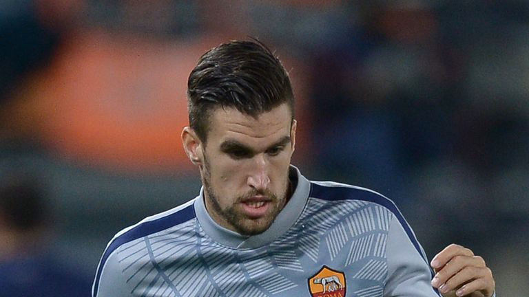 Roma's midfielder from Netherlands Kevin Strootman warms up before the UEFA Champions League football match AS Roma vs Manchester City.