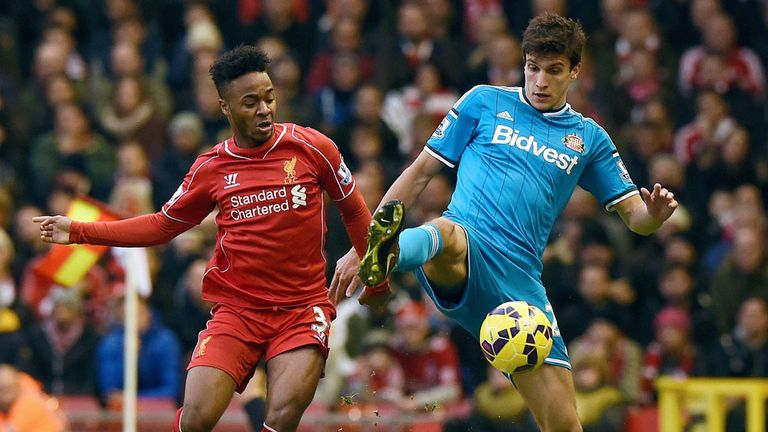 Sterling: part of the Liverpool side held 0-0 by Sunderland at Anfield