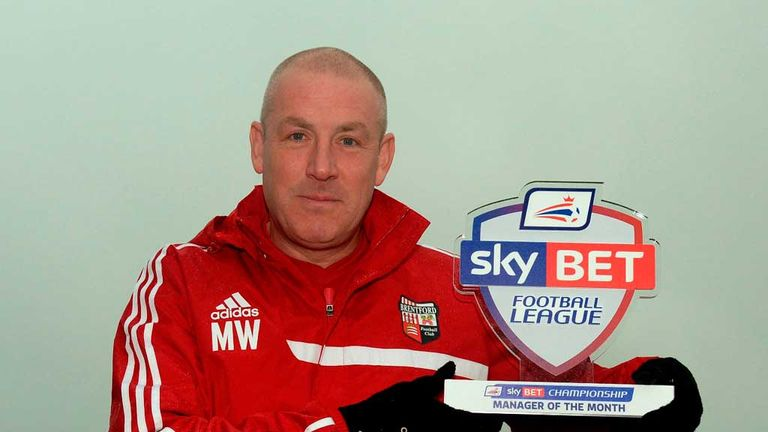 Mark Warburton: Sky Bet Championship Manager of the Month for November