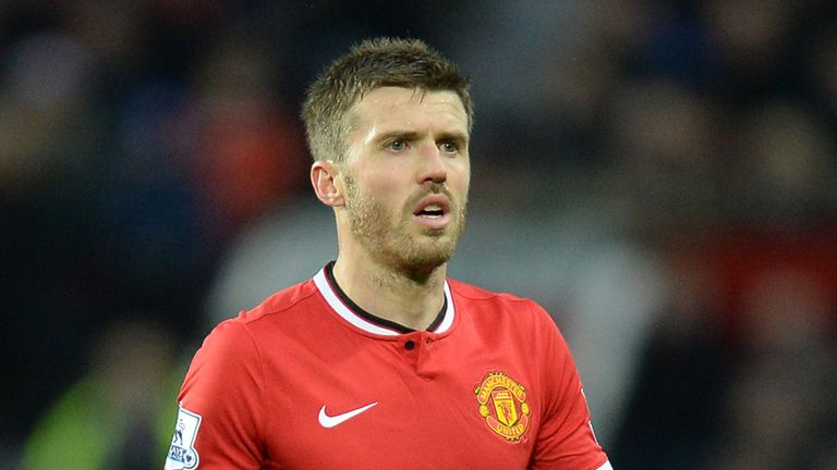 Manchester United's Michael Carrick during the Barclays Premier League match at Old Trafford, Manchester.