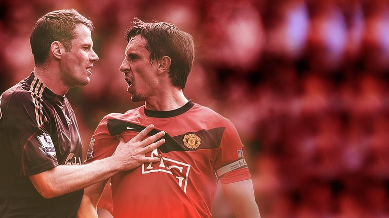 Carragher has endured many battles with Man Utd over the years