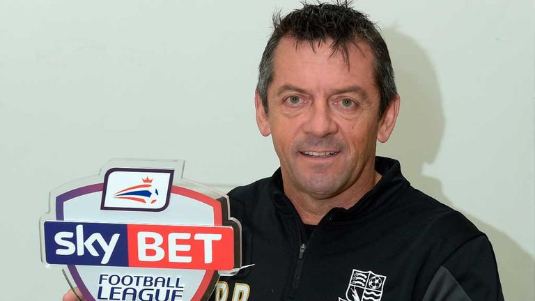 Phil Brown: Sky Bet League 2 Manager of the Month for November