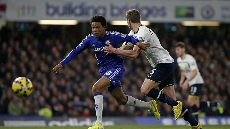Loic Remy: The Frenchman caused problems for Tottenham's Jan Vertonghen at Stamford Bridge.