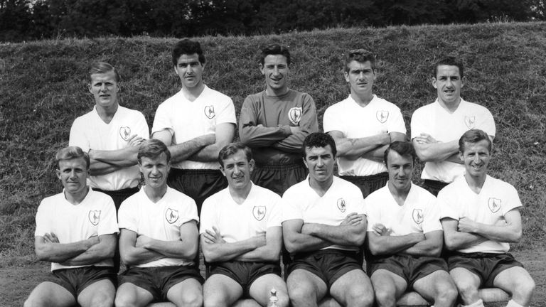 Ron Henry (back row, second from the right) lines up with Tottenham's 1962 FA Cup-winning side