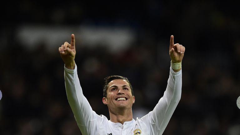Cristiano Ronaldo: Netted all three Real Madrid goals