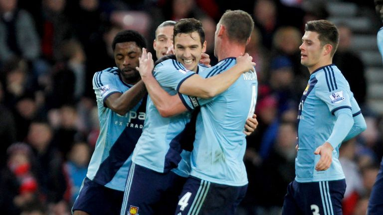 Stewart Downing celebrates equaliser at Sunderland, and the Magic Man sees another win for the Hammers