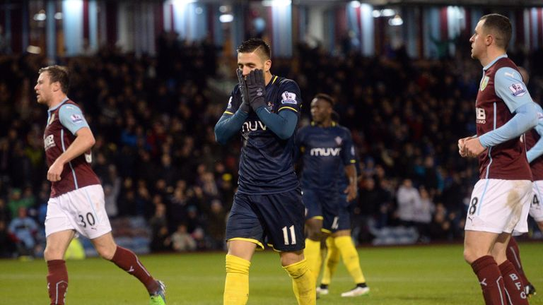 Dusan Tadic reacts after having his penalty saved by Burnley's Tom Heaton
