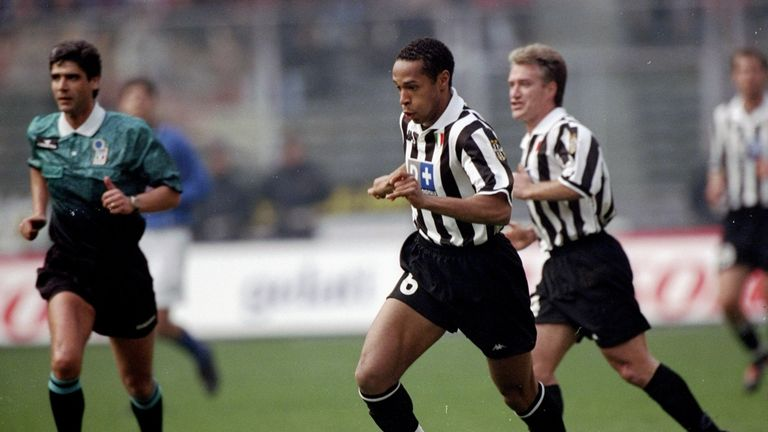 In action for Juventus in 1999.