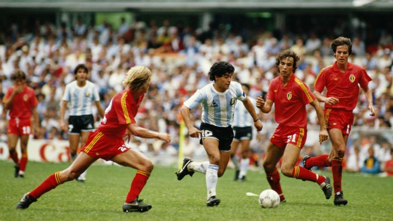 Diego Maradona starred for Argentina in their 1986 World Cup win