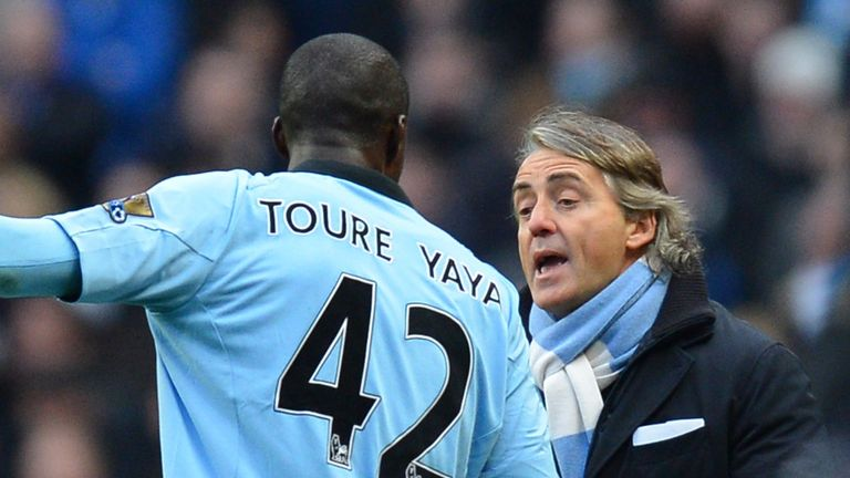 Mancini was dismissed on Toure's 30th birthday