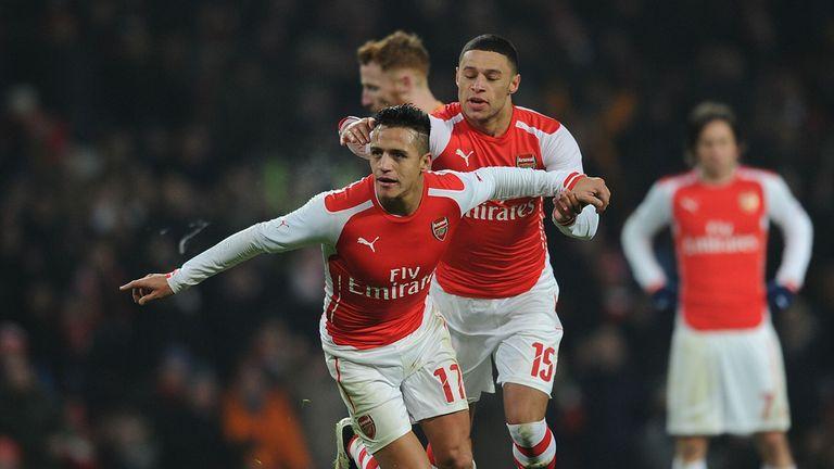 Alexis Sanchez enjoys his goal