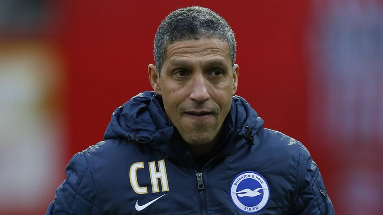 Chris Hughton: Grabbed a win in his first game as Brighton boss