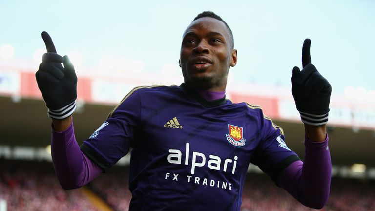 West Brom are interested in West Ham striker Diafra Sakho