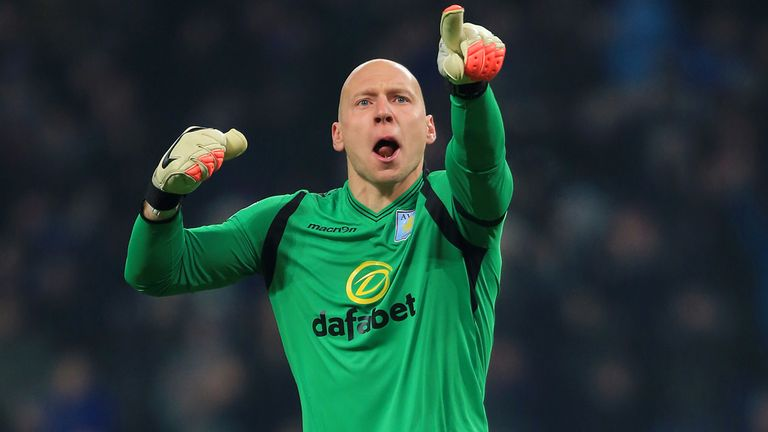 Brad Guzan currently occupies the No 1 spot at Aston Villa
