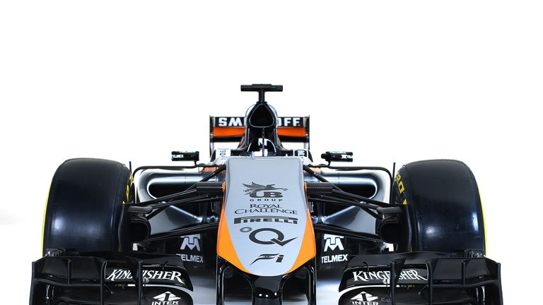 A 2015-style nose was added to Force India's 2014 chassis for their Mexico City event