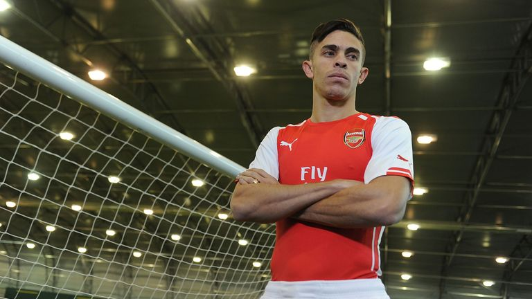 Arsenal unveil new signing Gabriel at London Colney on January 26, 2015 in St Albans, England