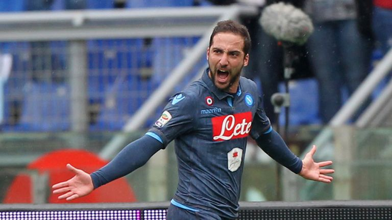 Gonzalo Higuain: Striker most likely to join Manchester United this summer, according to Sky Bet