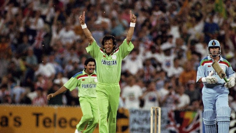 Pakistan recovered from their rain-affected group game against England to beat them in the 1992 World Cup final
