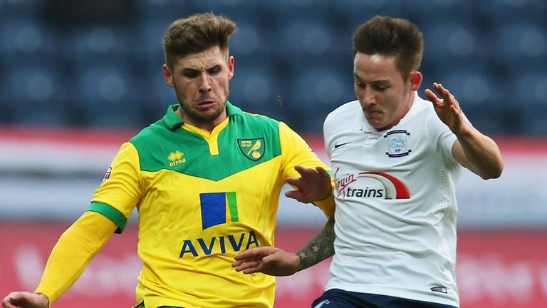 Josh Brownhill: Looks to hold off Norwich's Gary Hooper
