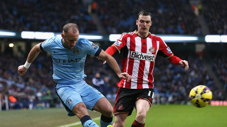 Pablo Zabaleta delivers under pressure from Adam Johnson