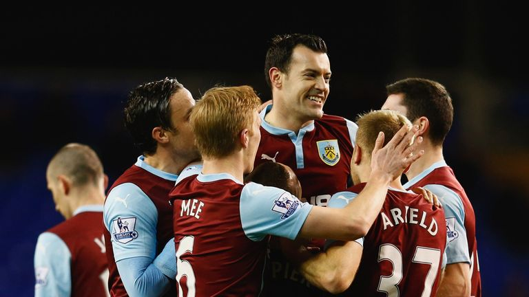 Ross Wallace celebrates Burnley's second goal at White Hart Lane