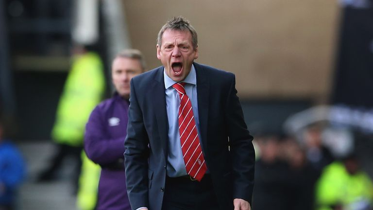 Nottingham Forest manager Stuart Pearce during the Sky Bet Championship Match between Derby County and Nottingham Forest at the iPro Stadium