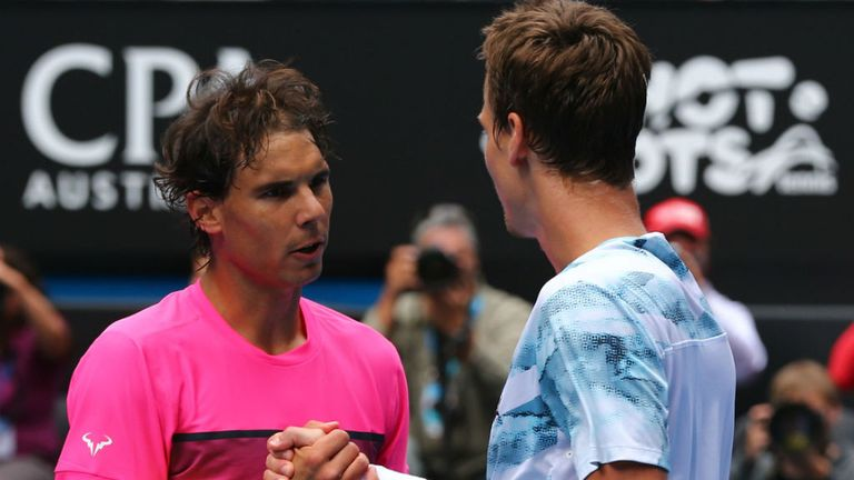 Nadal lost to Tomas Berdych in the Australian Open quarter-finals