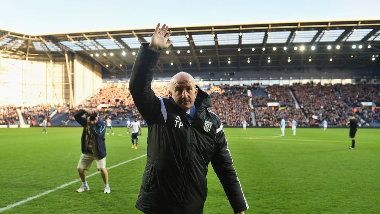 Pulis took charge of the Baggies for the first time since his appointment