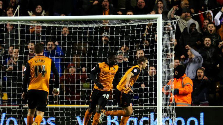 David Edwards of Wolves celebrates.