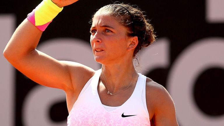Sara Errani ended the hopes of home favourite Monica Niculescu