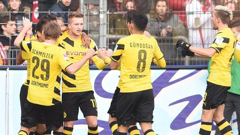 Dortmund celebrate Marco Reus' goal