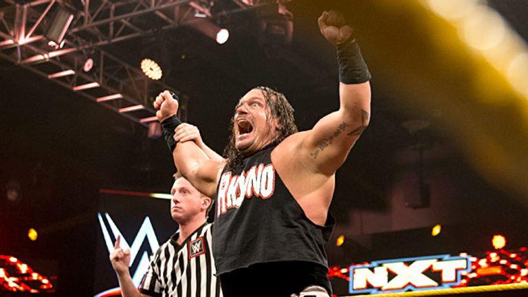 Rhyno floored Elias Samson with Gore on NXT