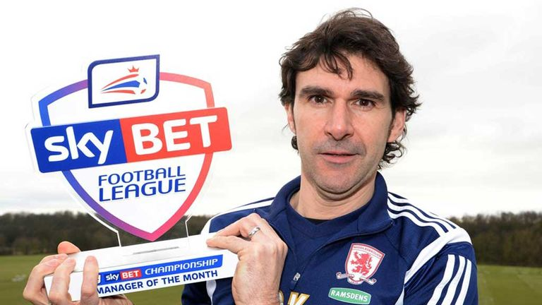 Aitor Karanka. Sky Bet Championship Manager of the Month for January
