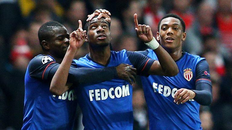 Geoffrey  Kondogbia celebrates his goal against Arsenal
