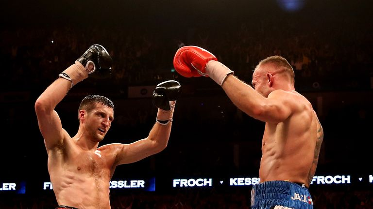 Frock avenged his defeat to Mikkel Kessler (right)