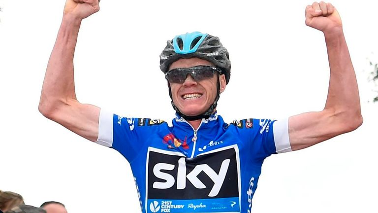 Chris Froome climbed to his first win of the season