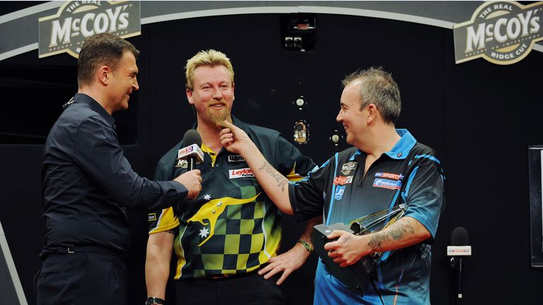 The Sky Sports presenter regularly works with the biggest stars in darts