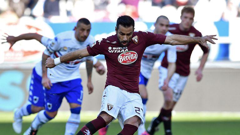 Fabio Quagliarella scores from the penalty spot