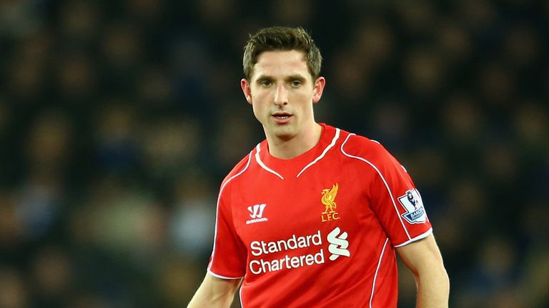 LIVERPOOL, ENGLAND - FEBRUARY 07:  Joe Allen of Liverpool in action during the Barclays Premier League match between Everton and Liverpool at Goodison Park