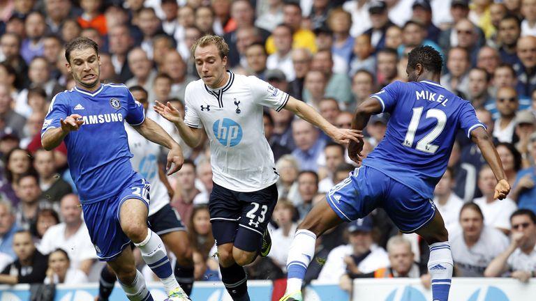Tottenham's Christian Eriksen could cause problems for Chelsea's Branislav Ivanovic