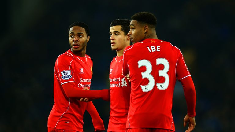 Liverpool's 19-year-old Jordon Ibe started the game, with Daniel Sturridge rested on the substitutes bench