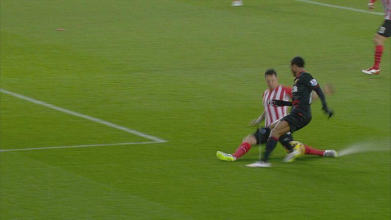 Jose Fonte tackles Raheem Sterling