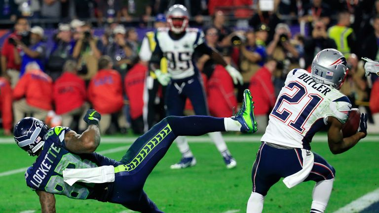 Malcolm Butler's goal line interception clinches Super Bowl XLIX  for the New England Patriots