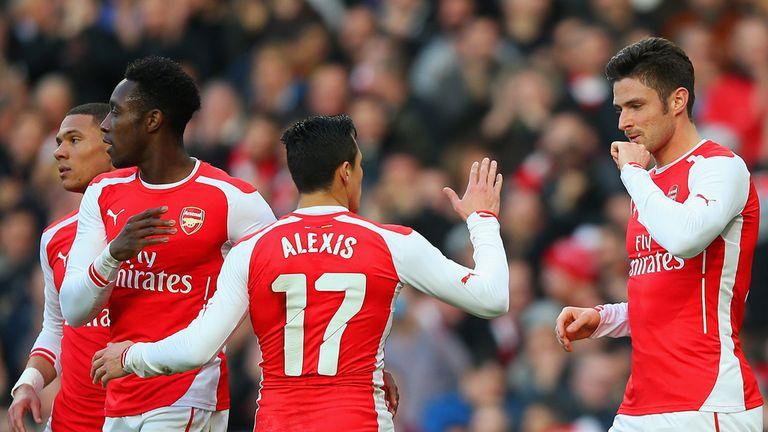 Olivier Giroud of Arsenal celebrates