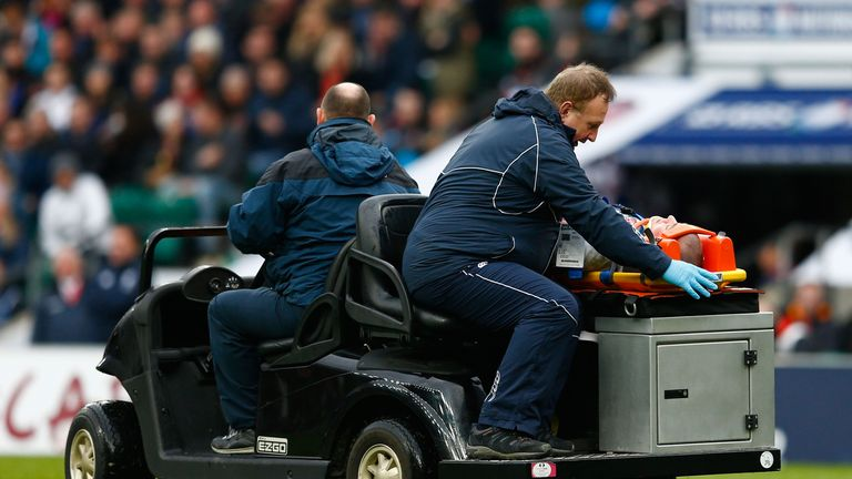 Mike Brown was taken off on a stretcher