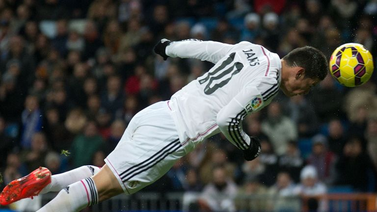 James Rodriguez scores for Real Madrid