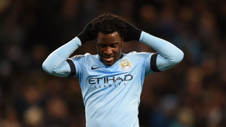 Wilfried Bony is introduced from the substitute bench with 30 minutes left on the clock
