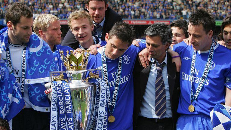 Chelsea win Premier League 2005, Mourinho, Lampard, Terry, Cech