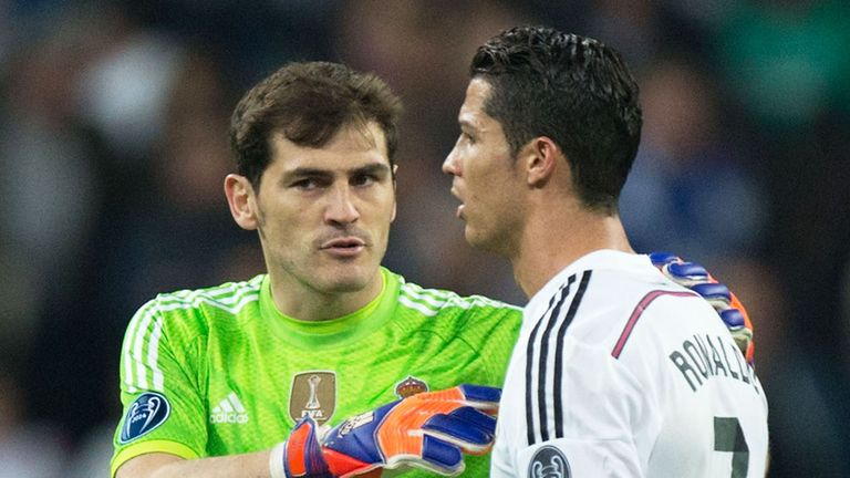 Cristiano Ronaldo claims he and Casillas are friends despite being criticised by the keeper's journalist girlfriend