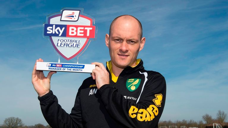 Norwich manager Alex Neil's side were unbeaten in February